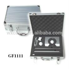 caixa de golf de alumínio portátil de alta qualidade com espuma personalizado inserir atacado