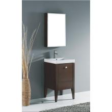 Американский стиль Горячая продажа Твердая деревянная мебель для ванной комнаты с раковиной