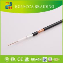 Câble coaxial câble haute qualité Rg59 de haute qualité