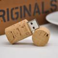 Цилиндр дерева дизайн USB флэш-накопитель свет