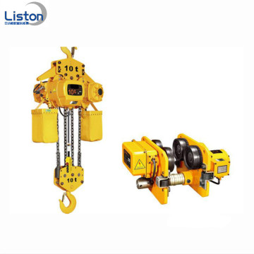 380V 50Hz Electric Chain Hoist dengan Trolley