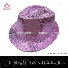 Purple Sequin Fedora Hat F1194-d