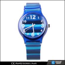 Montre quartz bleu marine, montre stripe pour adolescents