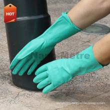 NMSAFETY EN388 EN374 green nitrile hand gloves chemical