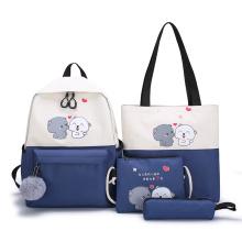 wholesale new arrival Girls School Bookbag Rucksack 4 in 1 trend causal girl school backpack bag