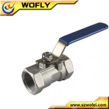 Válvula de esfera de alta pressão de aço inoxidável com alça manual