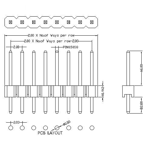2.0 mm Pin Header Single Row Straight Type