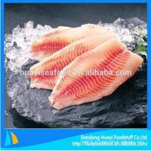 Filet de poisson de tilapia fraîchement congelé IQF à bon prix et services