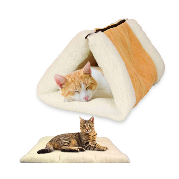 Portable 2 in 1 Snooze Tunnel Cat Mat