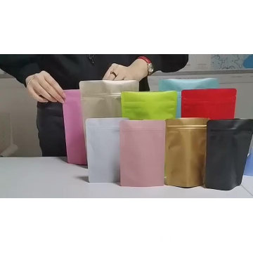 Recicle la bolsa de papel kraft biodegradable ziplock de pie