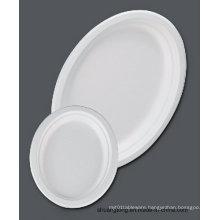 """Sugarcane Tableware /12.6"""" Oval Plate (Bagasse Plate)"""