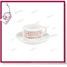 4oz Blank Sublimation Coffee Mug with Saucer and Spoon