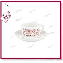 Кружка кофе пустые сублимации 4 унции блюдца и ложки