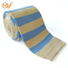 Último estilo de lazo de seda de Corea Stripe para hombres de negocios