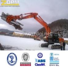 Excavadoras mecánicas registro gran capacidad elevación cuchara cubo