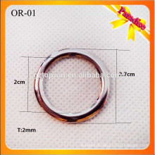 OR01Top quality sliver color metal O ring buckle for garments 2cm