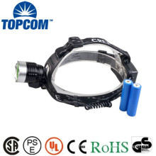 Professional miner's led rechargeable headlamp