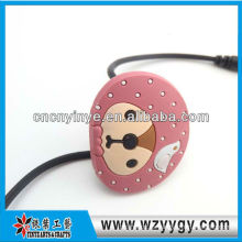 Organizador de cable pvc suave de moda de auriculares para la promoción