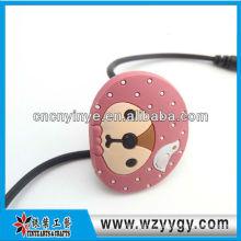 Mode écouteur souple pvc câble organisateur pour la promotion