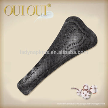 Hipoalergénica etiqueta privada tanga negro menta sabor stocklots panty liners algodón
