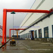 Semi Gantry Crane Steel Material with Hoist 10t 20t