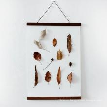 Custom DIY Wooden Frame Poster Canvas Scroll Nordic Artwork Hanger Simple style