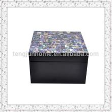 Paua Shell Storage Box with Black Paint Small size