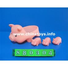 Animal Soft Rubber Toy Pig Bath Toy (880304)