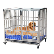 High quality Surgical Moveable Stainless Steel pet+cages for large dog