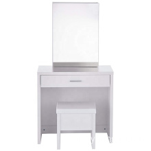 Melamine paper MDF wooden dresser With slide mirror