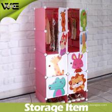 New Model Plastic Folding Wholesale Kids Wardrobe for Bedroom