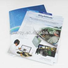 Pasta de arquivo de apresentação de bolso em papel A4