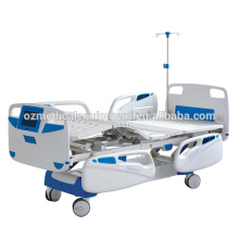 Adjustable Double Cranks Medical Hospital Beds with ABS Handrail