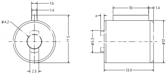 Barrel Damper Drawing For Grab Handle