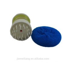 JML Kitchen daily use plastic mesh scourer cleaning pp mesh scourer with handle