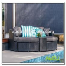 Audu muebles al aire libre estilos europeos venta caliente camas lindas