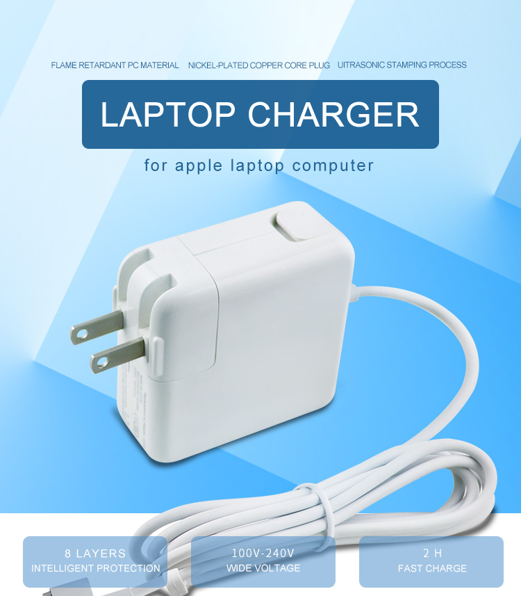 85W US plug ac adapter for macbook pro