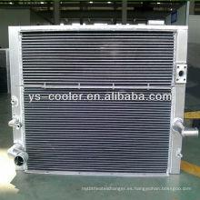 Intercambiador de calor de agua de aceite de placa-aleta de aluminio