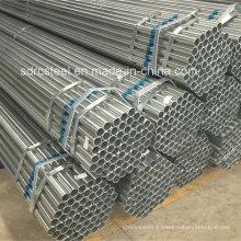Tuyau d'acier galvanisé à chaud pour la construction