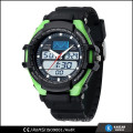3 atm water resistant watches men, double movement digital watch