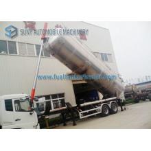 Honey Transportation Aluminum Food Grade 45 Cbm 2 Axle / 3 Axle Tank Semi Trailer
