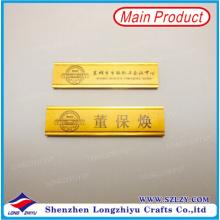 Namensschild-Halter-Gold fertiges Namensschild-Drucken