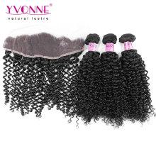 Brasilianische Haarbündel mit Curly Lace Frontal