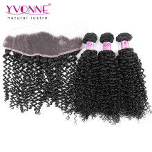 Brazilian Hair Bundles with Curly Lace Frontal