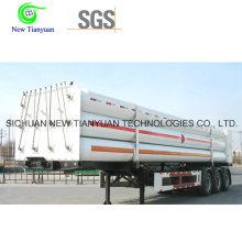 CNG Средний 9-трубный длинный цилиндр полуприцепа Контейнер