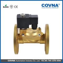 Vapor, aire, aceite de alta temperatura latón 1/2 pulgada válvula de solenoide brida Sello 220V VITON válvula de solenoide de pistón de elevación directa de 2 vías
