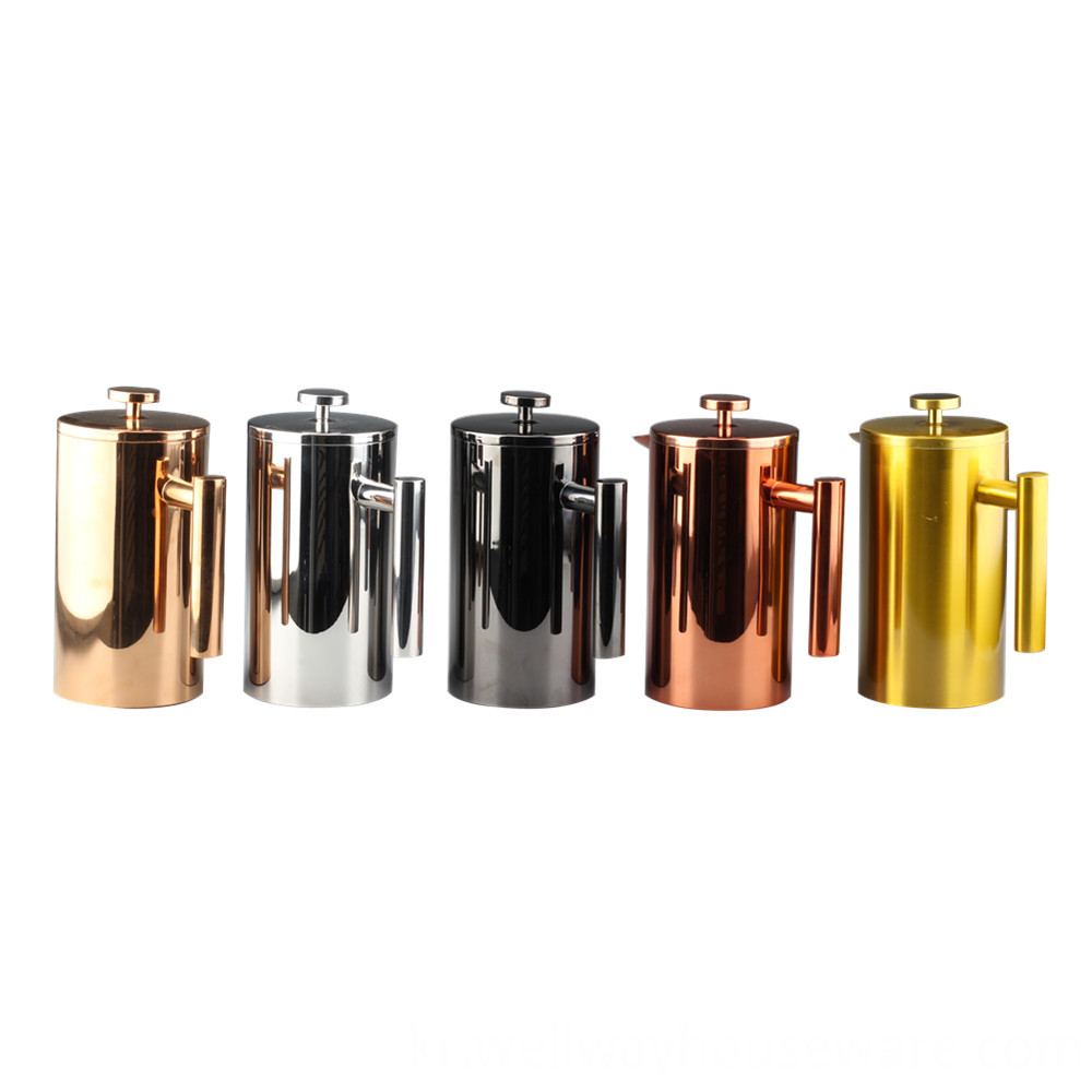 Different Color Double Wall French Press