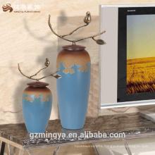 China ceramic vase hotel lobby coffee table chinese porecelain antique wedding piece for sale