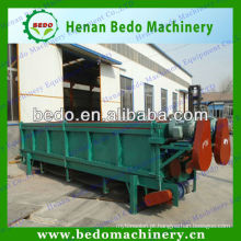 6 medidores da máquina de madeira do descascador do rolo dobro com motor elétrico