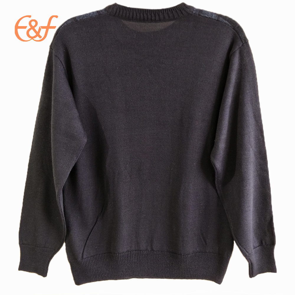 Acrylic men pullover knitted sweater jumpers back look